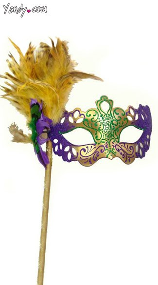 Cut Out Mardi Gras Mask, Hand Made Mardi Gras Mask