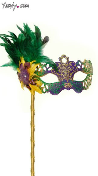 Cut Out Mardi Gras Mask