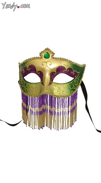 Mardi Gras Mask with Jewelry