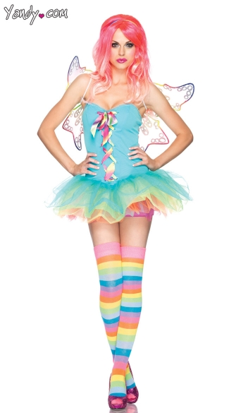 Rainbow Fairy Costume, Fairy Costume, Adult Fairy Costume, Rainbow Fairy, Sexy Rainbow Fairy Costume