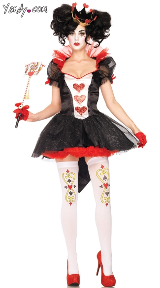 Royal Queen Costume, Royal Card Queen Costume, Queen of Cards Costume, Wonderland Costume, Alice in Wonderland Costume
