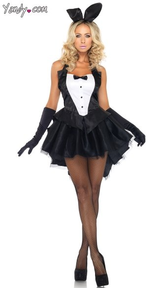 Tux and Tails Bunny Costume, Tuxedo Bunny Costume, Black and White Bunny Costume, Bunny Tutu Costume