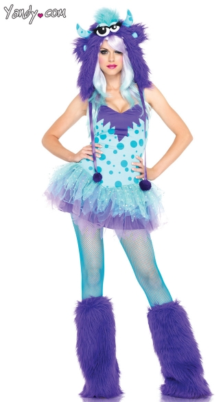 Polka Dotty Monster Costume, Polka Dotty Costume, Rave Monster Costume, Furry Monster Costume, Polka Dot Monster Costume