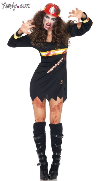 Undead Fire Starter Costume, Zombie Firefighter Costume, Zombie Fire Fighter Costume