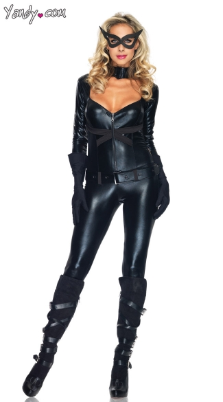 Cat Girl Costume, Cat Costume, Black Cat Girl Costume, Villain Costume