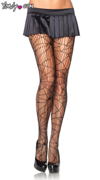 Spiderweb Net Pantyhose, Halloween Pantyhose, Costume Pantyhose