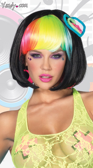 Pop Rainbow Bang Wig