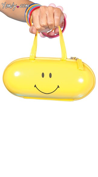 Happy Pill Purse, Yellow Pill Purse