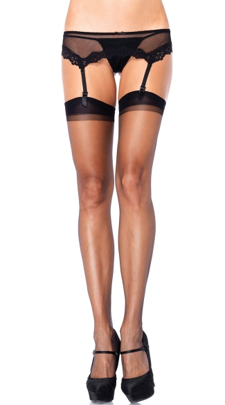 Ultra Sheer Thigh High Stockings, Sheer Thigh Highs, Sexy Stockings, Black Stockings