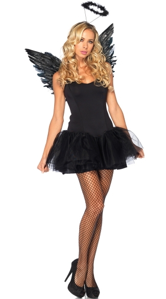 Dark Angel Costume Kit, Black Angel Costume Kit, Black Angel Halloween Costume