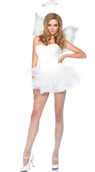 White Angel Costume Kit, Adult Angel Kit, Angel Halloween ...