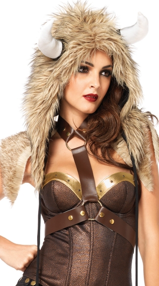 Viking Furry Hood