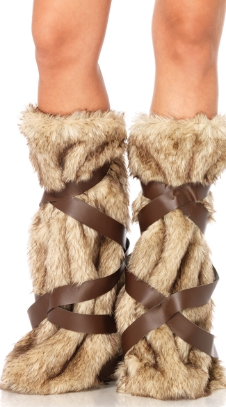 Viking Furry Leg Warmers, Build Your Own Costume, Warrior Leg Warmers, Furry Viking Costume