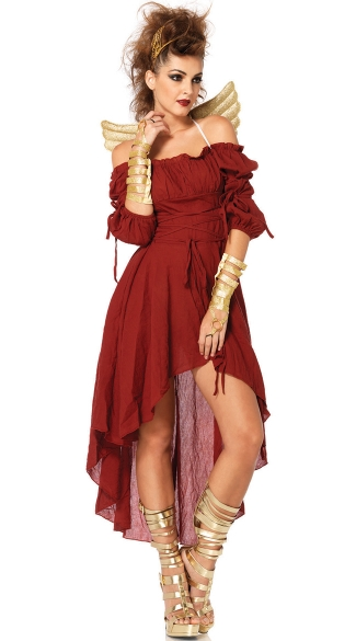 Mystical Goddess Costume, Burgundy Goddess Costume