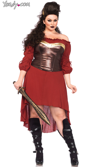 Plus Size Warrior Peasant Dress Costume