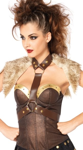 Warrior Body Harness, Faux Leather Harness, Warrior Costume Accessory