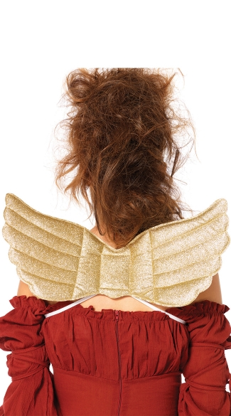 Mystical Golden Wings, Wing Costume Accessory, Felt Wings