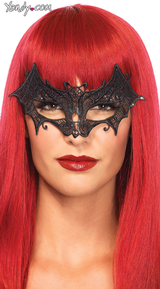 Vampire Bat Venetian Applique Eye Mask, Vampire Eye Mask, Bat Eye Mask