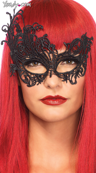 Fantasy Venetian Eye Mask, Lace Eye Mask, Mardi Gras Mask