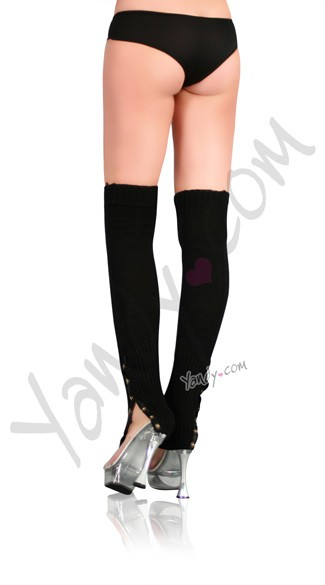 Leg Warmers with Button Side