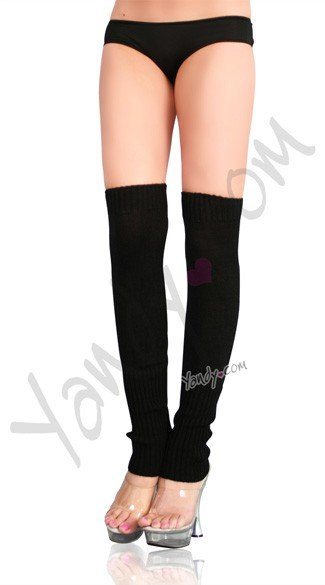 Solid Color Knit Leg Warmers