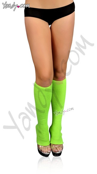 Ribbed Leg Warmers, Neon Legwarms, Calf Leg Warmers