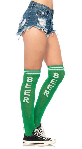 Beer Time Knee High Socks