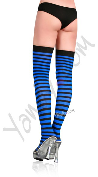 Nylon Zebra Striped Stockings