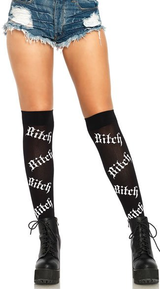 Psycho Bitch Over The Knee Socks