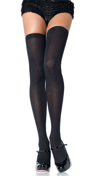 Opaque Nylon Thigh High Stockings, See-Through Multicolor Stockings, Sexy Knee High Pantyhose
