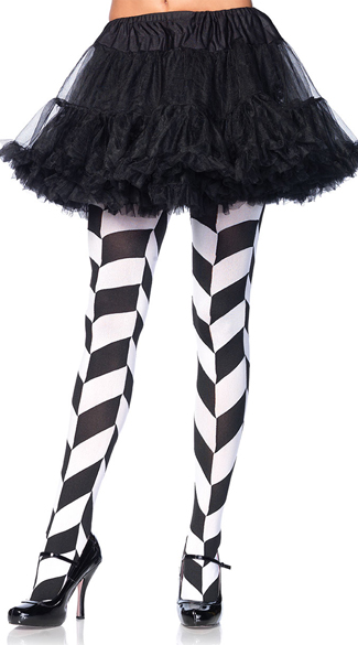 Illusion Chevron Tights