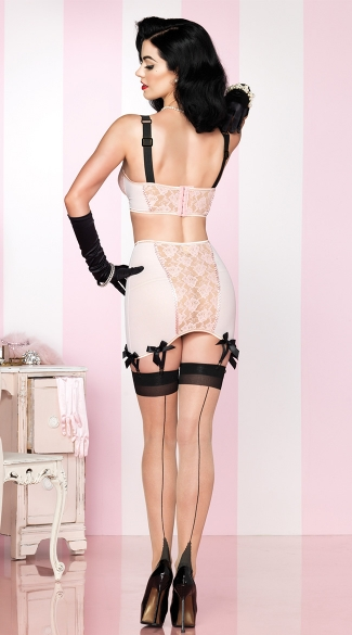 Retro Bra and Skirt Set