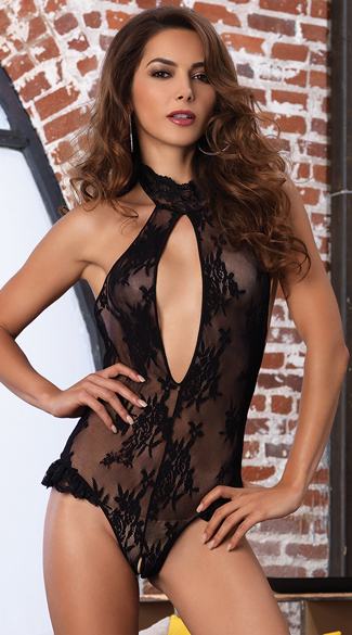 Deep-V Lace Teddy