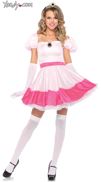 Princess Peach Costume, Adult Princess Costume, Sexy Princess Halloween Costume