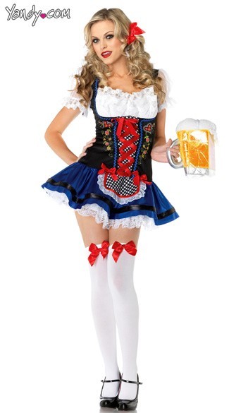 Frauline Heidi Costume, Flirty Frauline Costume, Beer Girl Sexy Costume