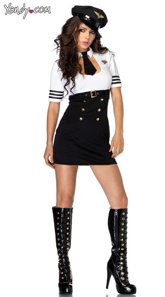 First Class Captain Costume, Womens Captain Costume, Womens Pilot Costume