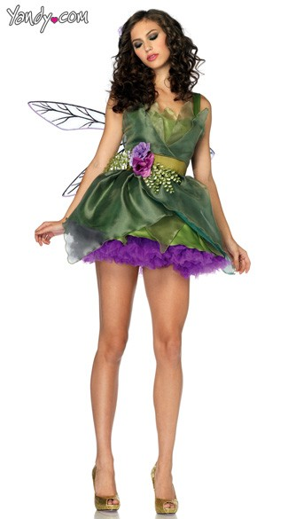 Woodland Fairy Costume, Green Fairy Costume, Adult Fairy Costume
