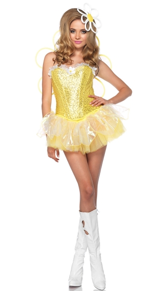Light Up Daisy Doll Costume, Daisy Costume, Electric Daisy Costume, Flower Costume