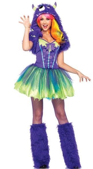 Purple Posh Monster Costume, Purple Monster Costume, Womens Monster Costume