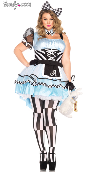 Plus Size Psychedelic Alice Costume