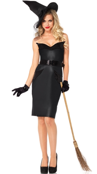 Sexy Vintage Witch Costume, Retro Witch Costume