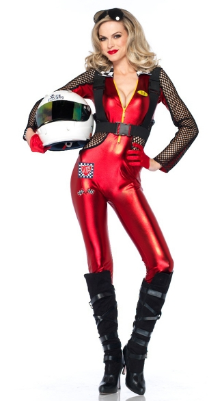 Sexy Red Racer Costume