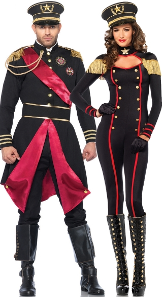 Military Generals Couples Costume, Army General Couples Costume, Military Couples Costumes