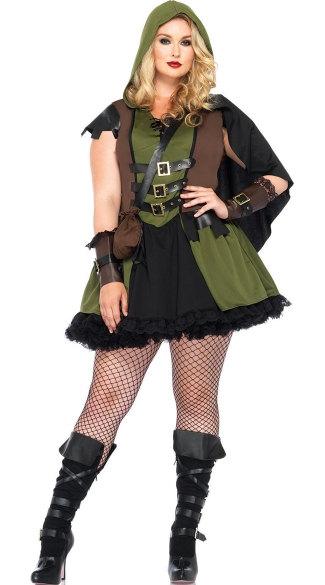 Plus Size Sexy Robin Hood Costume Plus Size Sherwood Costume