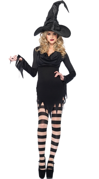Sexy Standard Witch Costume, Adult Black Witch Costume