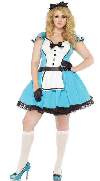 Plus Size Adult Alice Costume, Plus Size Storybook Alice Costume