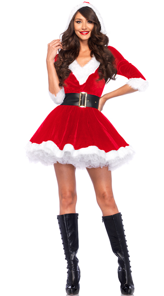 Velvet holiday dress sexy santa dress red velvet santa holiday dress