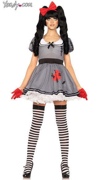 Wind Up Doll Costume, Doll Costume, Black and White Doll Costume