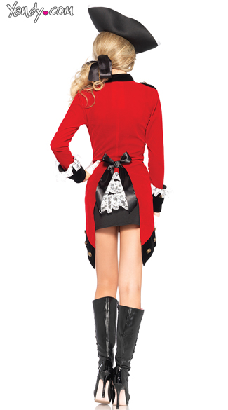 Sexy Red Coat Military Costume