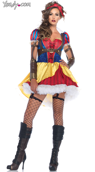 Warrior Poison Apple Princess Costume, Warrior Snow White Costume